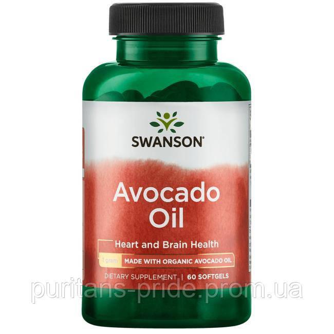 Avocado Oil, Swanson, 1 грам 60 капсул