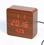 Настольные часы от сети+батарейка VST-872S (80 шт/ящ), фото 4