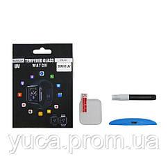 Защитное стекло UV для APPLE Watch 38mm (0.25 мм, 3D, прозрачное)  в комплекте с UV клеем и лампой
