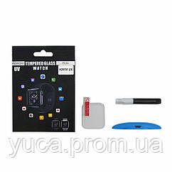 Защитное стекло UV для APPLE Watch 40mm (2018) (0.25 мм, 3D, прозрачное)  в комплекте с UV клеем и лампой