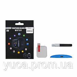 Защитное стекло UV для APPLE Watch 42mm (0.25 мм, 3D, прозрачное)  в комплекте с UV клеем и лампой