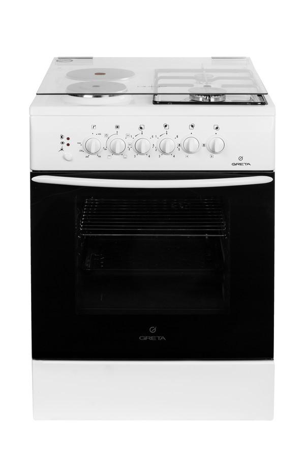 Газоелектрична плита GRETA 600-00 №27а(2+2) біла