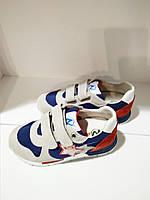 Кроссовки на липучке, нашивка звезд для мальчика синий, серый,Красный замш, текстиль PARKER Naturino, Италия