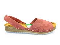 Босоножки натуральные женские кожаные сандали на низком ходу 37 размера Inblu VO-3A 067