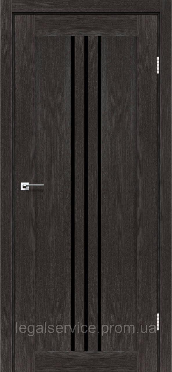 """Дверное полотно ТМ """"Leodor"""" модель """"Veronal"""" цвет дуб саксонский"""