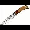 Функциональный и практичный охотничий нож с бронзовым литьем ВОЛК-2