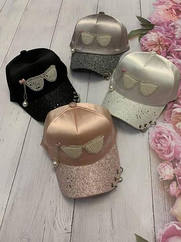Детская стильная кепка для девочки Очки, фото 2