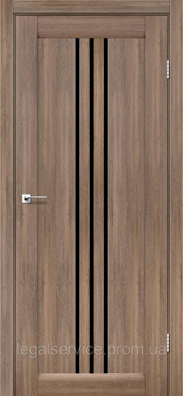 """Дверное полотно ТМ """"Leodor"""" модель """"Veronal"""" цвет серое дерево"""