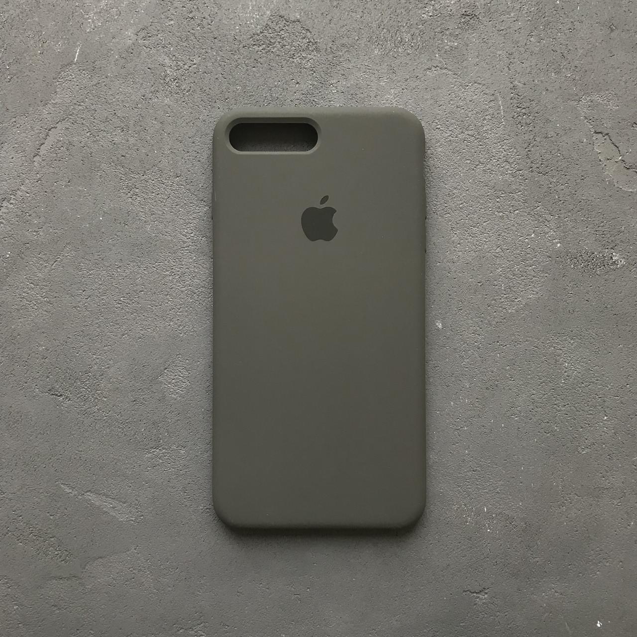 buy online eae3b 96dee Силиконовый чехол на айфон 7 plus оливковый Silicone Case iPhone 7+ dark  olive - Bigl.ua