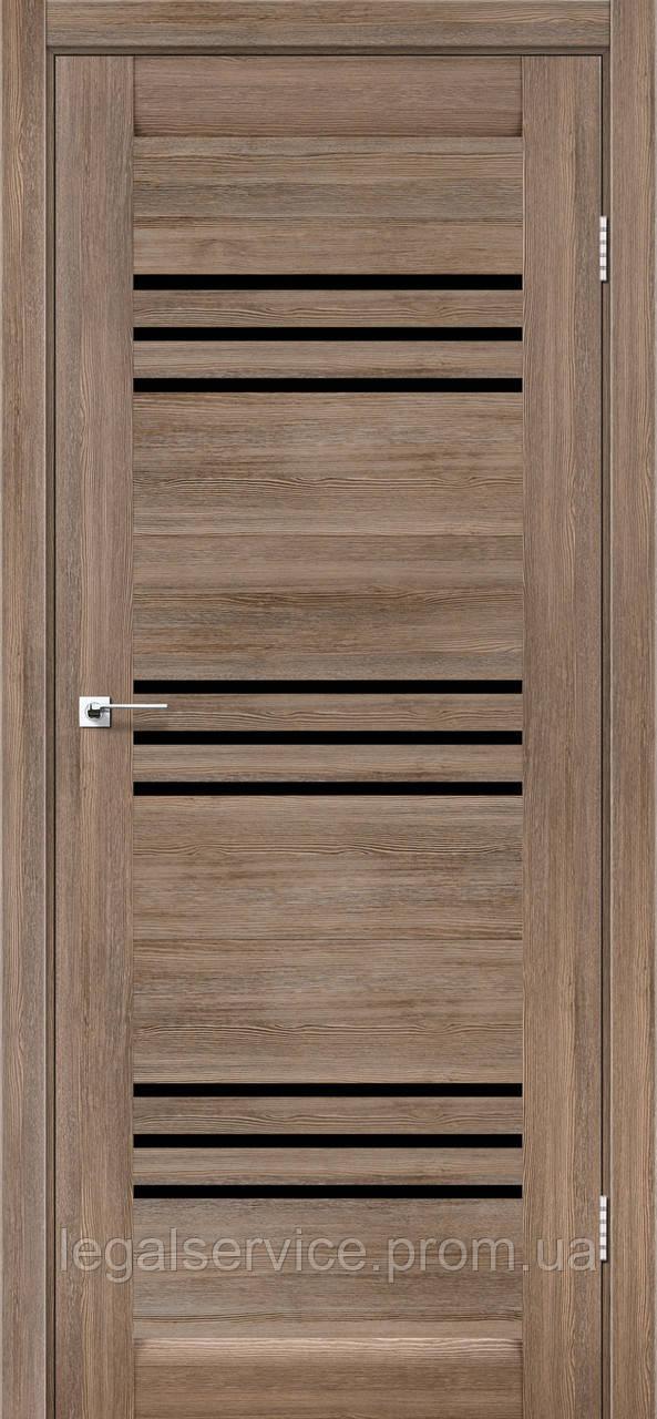 """Дверное полотно ТМ """"Leodor"""" модель """"Sovana"""" цвет серое дерево"""
