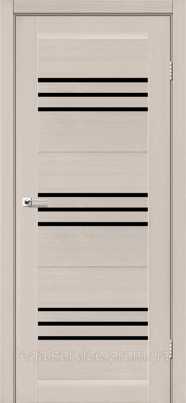 """Дверное полотно ТМ """"Leodor"""" модель """"Sovana"""" цвет дуб латте"""