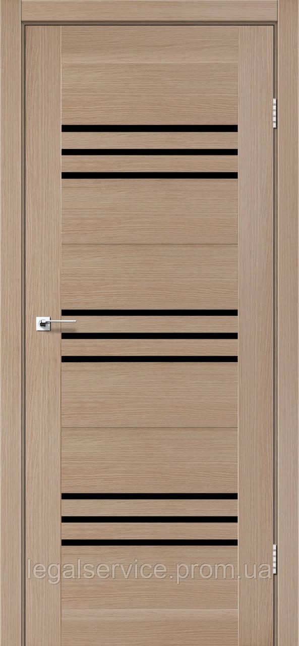 """Дверное полотно ТМ """"Leodor"""" модель """"Sovana"""" цвет дуб мокко"""
