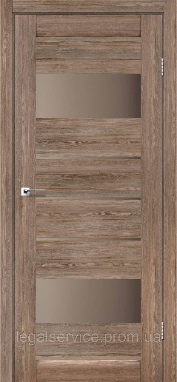 "Дверне полотно ТМ ""Leodor"" модель ""Arona"" колір сіре дерево"