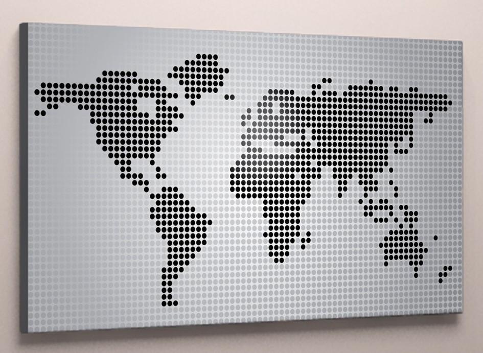 Модульная картина на холсте карта мира 60х40