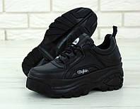 Женские кроссовки Buffalo London Black, фото 1