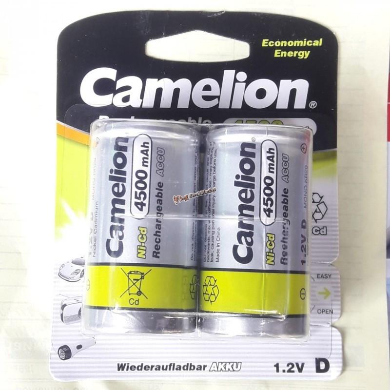 Аккумулятор Camelion D20 4500mAh 1.2V Ni-MH R20 NC-D4500BP2