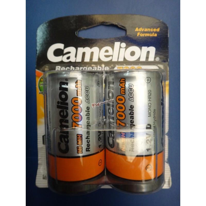 Аккумулятор Camelion D20 7000mAh 1.2V Ni-MH R20 NC-D7000BP2