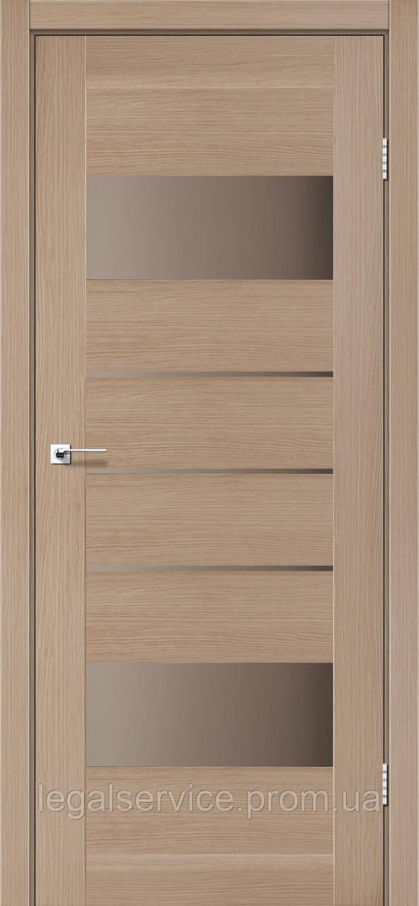 """Дверное полотно ТМ """"Leodor"""" модель """"Arona"""" цвет дуб мокко"""