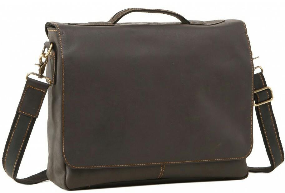 2c4a9d9eec4e Сумка кожаная Tiding Bag 7108A-1, мужская, коричневая - SUPERSUMKA интернет  магазин в