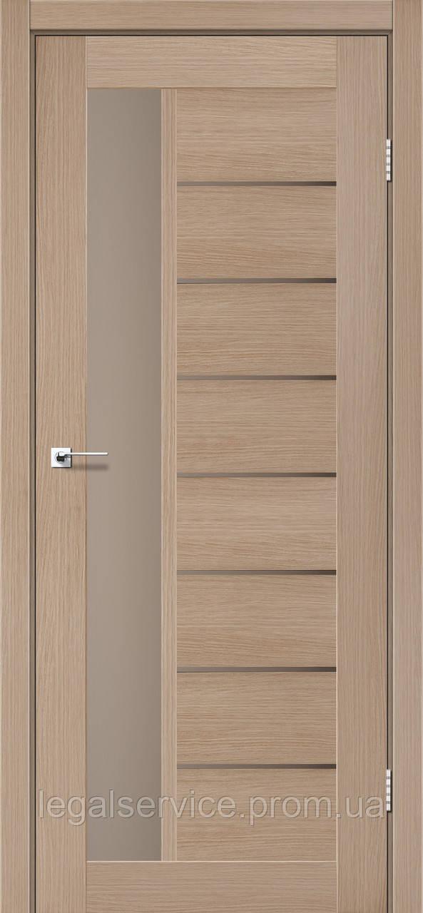 "Дверное полотно ТМ ""Leodor"" модель ""Canneli"" цвет дуб мокко"