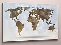 Картина мапа світу 60х40