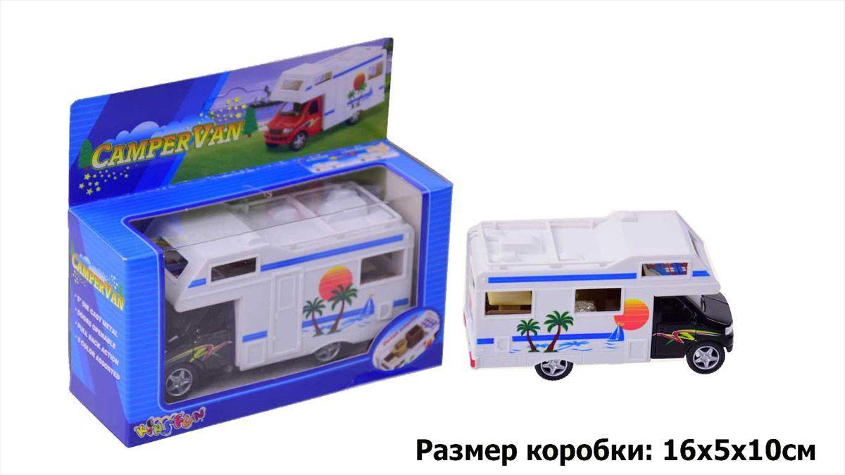 Машина металева KINSMART KS5252W CamperVan в коробці 16*8*7,5 см