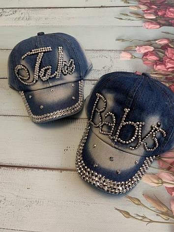 Стильна джинсова кепка для дівчинки Babys р. 50-52, фото 2