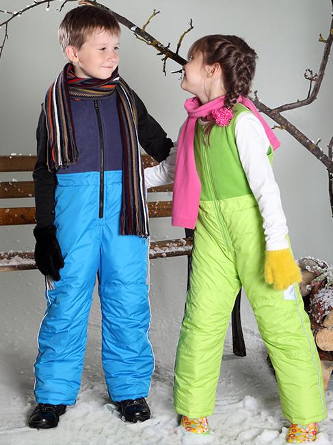 Детские лыжные штаны с синтепоном (92-110 разные цвета)