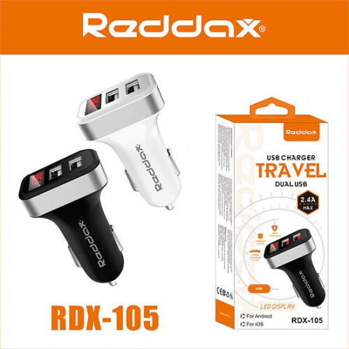 АЗУ Reddax RDX-105, 2,4 А з дисплеєм