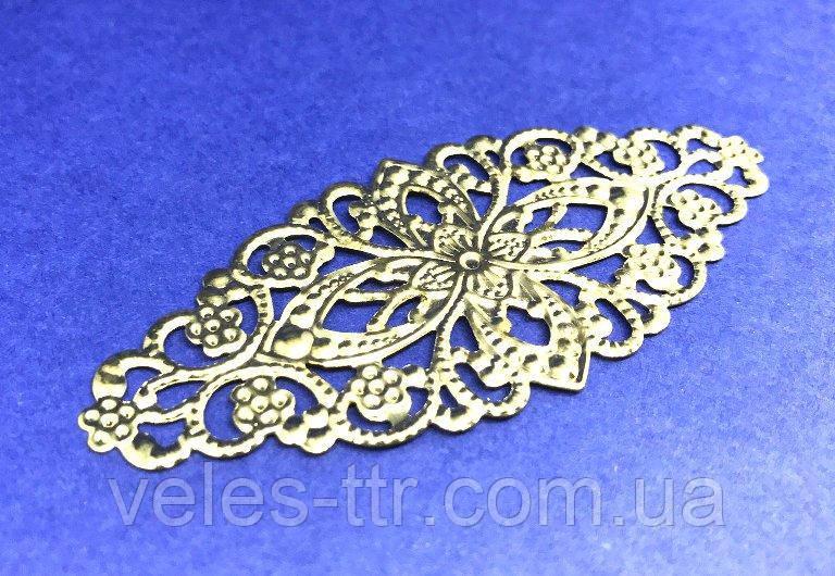 Накладка декоративная золото 80х35 мм
