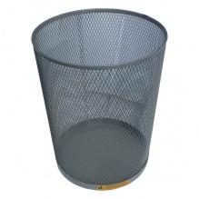 Стальная офисная корзина для мусора, 15 л. (Черный)