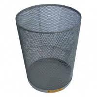 Сталева офісна кошик для сміття, 15 л. (Чорний)