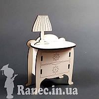 Мебель для куклы комод с лампой для  монстер хай  для  винкс свинка пеппе Pepe кукольный домик
