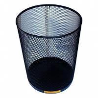 Сталева офісна кошик для сміття, 15 л. (Срібло)