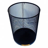 Стальная офисная корзина для мусора, 15 л. (Серебро)