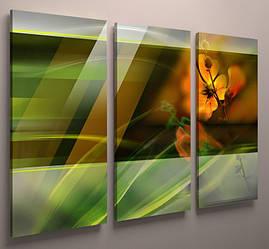 Фотокартина модульная яркая абстракция цветы 90х60