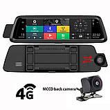 "Видеорегистратор E08 Plus Зеркало 10"" Экран сенсор - 2 камеры ADAS + GPS навигатор + WiFi + Android + 4G LTE, фото 2"