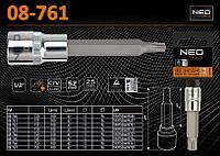 """Головка 1/2""""- 100мм с насадкой Torx T25, NEO 08-761"""