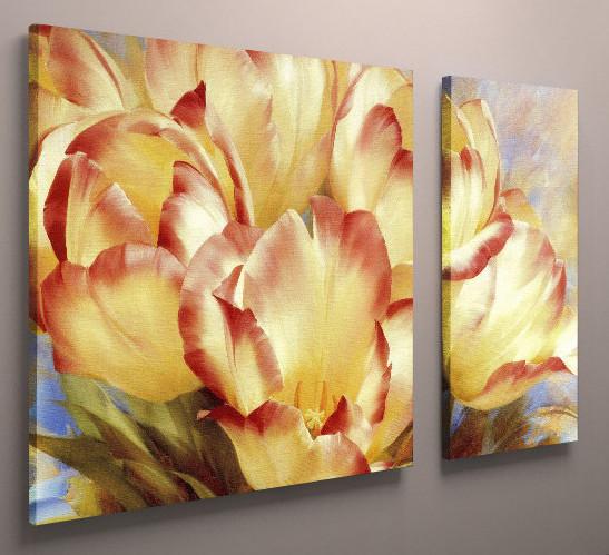 Модульная картина тюльпаны 100х60