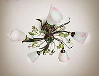 Люстра в стиле флористика 5-ти ламповая