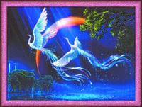 Набор для вышивания бисером на авторской канве «Птицы счастья»