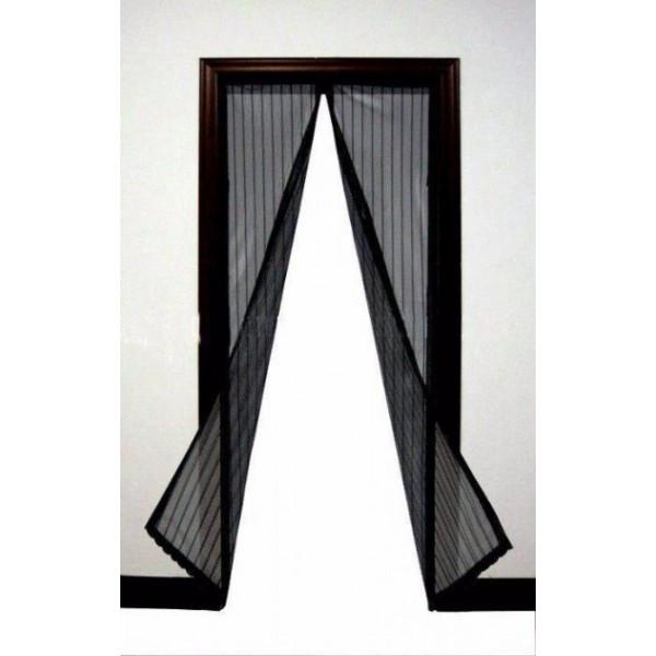 Москітна сітка на магнітах антимоскітна штора на двері Magic Mesh Чорна