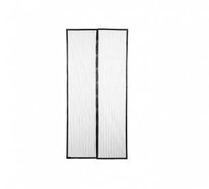 Москітна сітка на магнітах антимоскітна штора на двері Magic Mesh Чорна, фото 2
