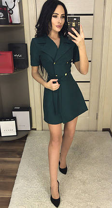 Зеленое мини платье, фото 2