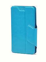"""Чехол-книжка универсальная 5,1-5,5"""" на зажимах Smartcase L Синий, фото 1"""