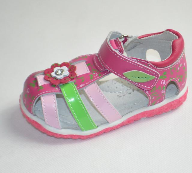 Босоножки сандалии кожаные Y Top розовые 20р.