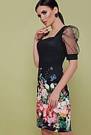Женское платье с цветочным принтом и коротким рукавом Поля к/р