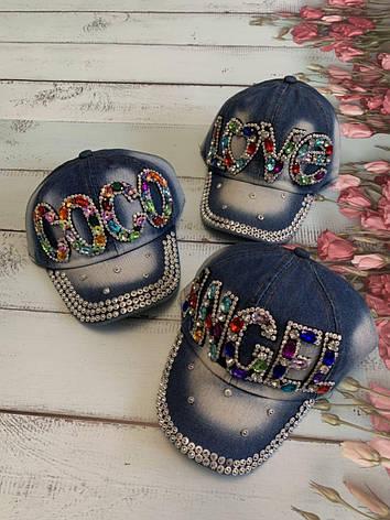 Дитяча джинсова річна кепка для дівчинки COCO р. 50-52, фото 2