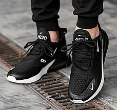 Мужские и женские кроссовки Nike Air Max 270 Black/White, фото 3