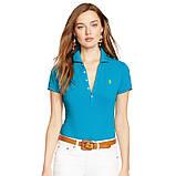 У стилі Ральф лорен поло жіноча поло жіноча футболка бавовна ралф, фото 5